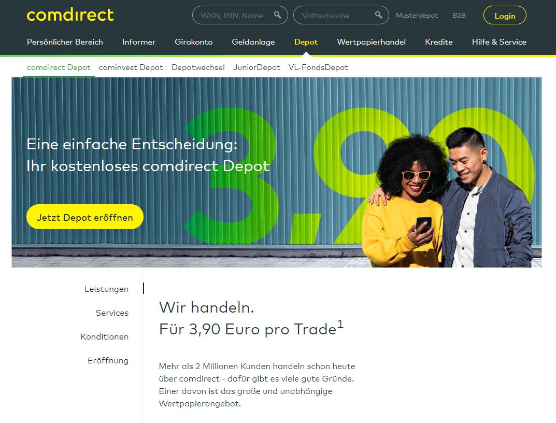 Comdirect Depot Erfahrungen